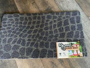 Luxury Natural Fibre Coir Outdoor/Indoor Door Mat Animal Charcoal 45x75cm