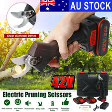 42V Rechargeable Electric Pruning Scissors Branch Cutter Garden Tool+ 2xBattery