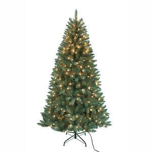 7 Foot Pre-Lit Point Pine Tree TR2326PL  w