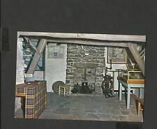 J Arthur.Dixon Colour Postcard Interior Old Leanach Cottage Culloden Inverness