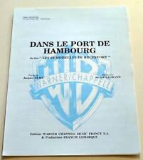 Partition sheet music JACQUES DEMY / MICHEL LEGRAND : Dans le Port de Hambourg