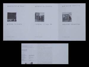 CLAUDE VIALLAT - GALERIE ONIRIS - 1994 - CARTON INVITATION