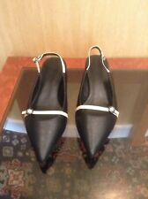 New Black And White Slingback Shoe From Marks And Spencer Size 7