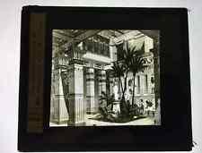 Ancienne plaque verre lanterne magique Maison Egyptienne