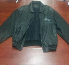 RARE !!!!  VINTAGE KARL KANI DESIGNER LEATHER JACKET J 23  BLACK SIZE L