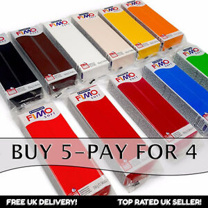 FIMO Soft 454g Polymer Modelling Oven Clay - Moulding Clay - Buy 5, Pay for 4