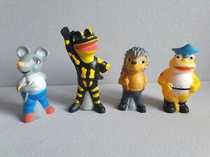 Lurchi Salamander Maus Igel Frosch alte Quietschfiguren Figur Kunststoff Gummi