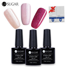 Buy 3 Get 1 Gift Rosa Glitter UV Gel Nagellack Entferner Wraps Soak Off 7.5ml