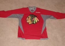 reebok chicago blackhawks practice jersey red mens small