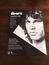 1981 VINTAGE 8X11 PROMO PRINT Ad FOR THE DOORS GREATEST HITS JIM MORRISON ALBUM