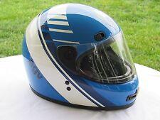 AGV, AG-100, 1988 BLUE MOTORCYCLE HELMET, VALENZA ITALY, SIZE XXL, KEVLAR GLASS