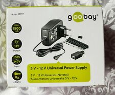 Goobay 3V 12V Universal Power Supply black 1.8m incl. 1 USB and 8 DC adapter