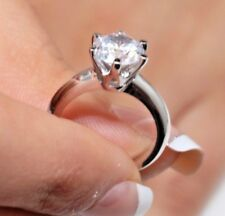 2 CT ROUND CUT DIAMOND SOLITAIRE ENGAGEMENT RING 14K WHITE GOLD ENHANCED 11