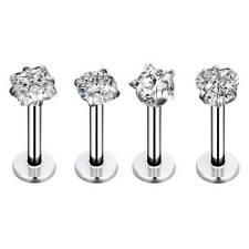 4pcs Steel Labret Lip Rings Ear Tragus Cartilage Earrings Stud Monroe Piercing