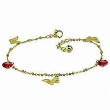 Stainless Steel Golden/Anklet Bracelet With Charms Butterfly