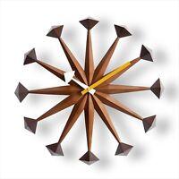 George Nelson Polygon Designer Clock Daiva Walnut Brown  New Japan f/s