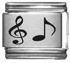Clearly Charming Music Note Laser Italian Charm