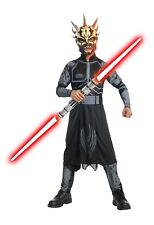 Boys SAVAGE OPRESS Costume Jumpsuit Mask Star Wars Clone Wars Child Large 12 14