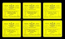 ILES KEELING COCOS ●● COLLECTION DE 6 MEDAILLES PLAQUéES OR DES BILLETS 1902 ●