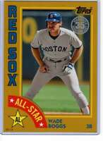 Wade Boggs 2019 Topps 1984 Topps All-Stars Oversize 5x7 Gold #84AS-WB /10 Red So