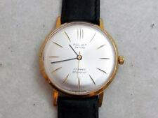 POLJOT DE LUXE gold palted USSR vintage men's mechanical wristwatch