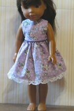 Dress soft lavender bunnies Easter for 14.5 in. dolls such as Wellie Wisher 10D