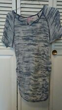 Mom's The Word Maternity Women's Maternity Top Grey Size L