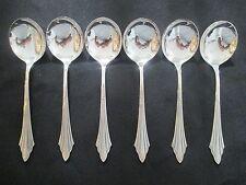 WMF Fächermuster 925 echt Silber 6 Tassenlöffel / Sahnelöffel 16,7 cm Fächer NEU