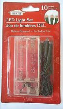 New 10 Red Led Light Set AA Battery Operated Indoor use by CHRISTMAS HOUSE
