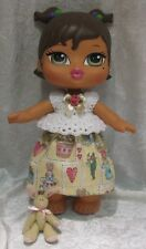 "BIG BRATZ BABYZ 12"" Doll Clothes #23 Handmade Top, Skirt & Bunny Easter Set"