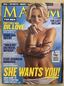 Jaime Pressly Maxim December 2001 Signed Magazine
