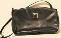 Anne Klein for Oroton Navy Blue Leather Purse Small Crossbody Bag