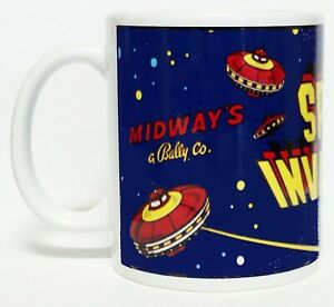 300ML CERAMIC COFFEE MUG - SPACE INVADERS