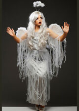 Womens Halloween Gothic Fallen Angel Costume with Wings
