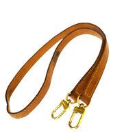 Authentic LOUIS VUITTON Shoulder Strap Leather Brown Gold Accessory 09EY331
