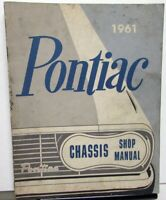 1961 Pontiac Chassis Service Shop Manual Catalina Ventura Star Chief Bonneville