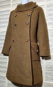 Vintage 1960s Junior Petite by Preen Olive Green Wool Coat