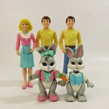 Fisher-Price Loving Family Lot of 5 Action Figures Father Mother Mom Dad Bunny