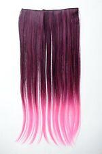 Extensión Extensiones de pelo Clip 5 clip liso bi-color Ombre Rot 60cm lang