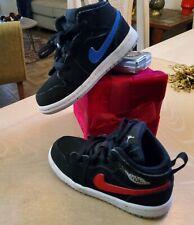 Nike Air Jordan Retro Shoes Black Blue and Red Toddler 7C Boys Kids