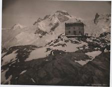Suisse, Theodulpasshutte Vintage print. Photomécanique  21x27  Circa 1890