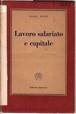 Lavoro salariato e capitale. Karl Marx