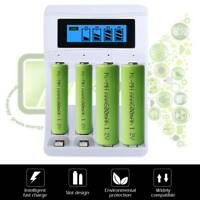 4 Slot Battery Charger LCD Dsiplay for AA AAA NiCd NiMh Rechargeable Batteries