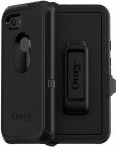 OtterBox Defender Series Case & Holster Google Pixel 3A XL Black Easy Open Box