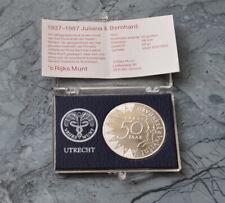 Niederlande 50 Gulden 1987 ,Silber , Zertifikat + Box * Juliana und Bernhard