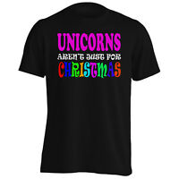 UNICORNS AREN?T JUST FOR CHRISTMAS FUNNY Men's T-Shirt/Tank Top t99m