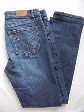 Vigoss Blue Distressed Stretch Straight Leg Denim Jeans Size 11 EUC