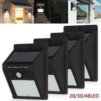 LED Solar Powered PIR Motion Sensor Wall Security Light Garden Outdoor