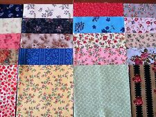 40 x 5' CHARM SQUARES 2 ea design x 20 Floral   100% Cotton Fabric Sewing No.18