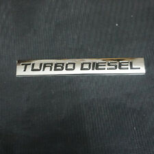1x Metal Chrome TURBO DIESEL Badge Sticker Emblem Sport Premium 3D Limited Motor